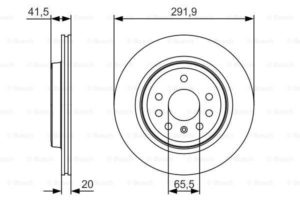 Гальмівний диск MINTEX арт. 0986479S27