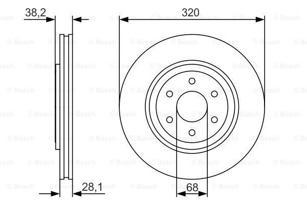 Тормозной диск MINTEX арт. 0986479S35