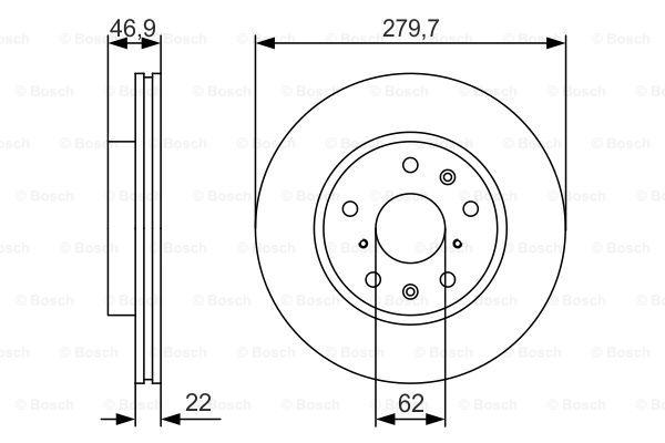 Тормозной диск MINTEX арт. 0986479S58