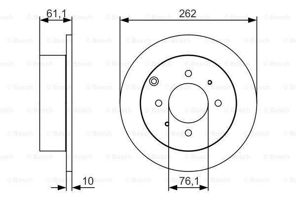 Тормозной диск MINTEX арт. 0986479S68