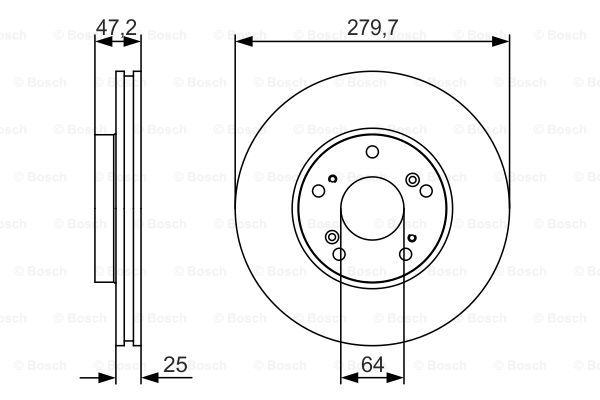 Тормозной диск MINTEX арт. BO 0986479S82