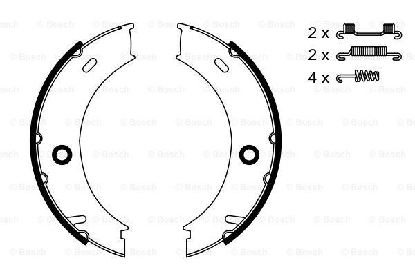 Гальмівні колодки, барабанні MINTEX арт. 0986487611