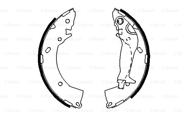 Комплект задних тормозных колодок MINTEX арт. 0986487697