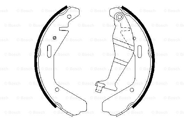 Комплект тормозных колодок MINTEX арт. 0986487707