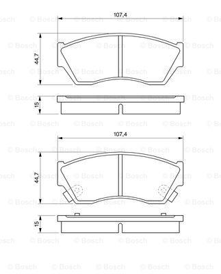 Тормозные колодки передние дисковые MINTEX арт. 0986493340