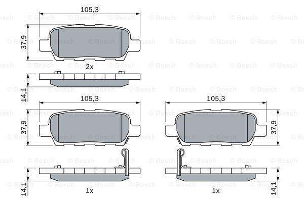 Тормозные колодки задние дисковые MINTEX арт. BO 0986494090