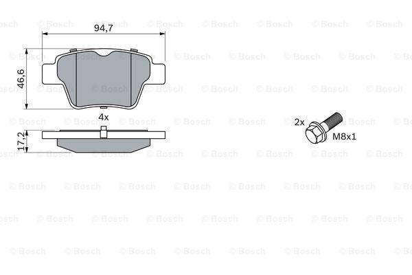 Тормозные колодки дисковые MINTEX арт. BO 0986494099