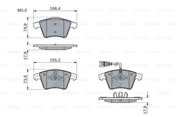 Тормозные колодки дисковые MINTEX арт. BO 0986494107