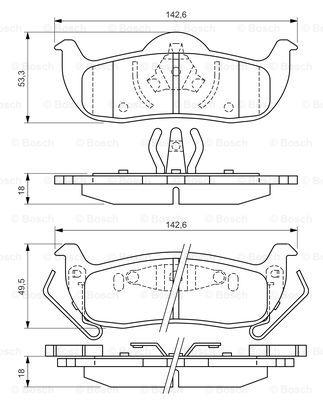 Тормозные колодки задние дисковые MINTEX арт. 0986494142