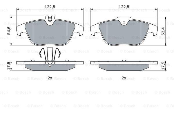 Тормозные колодки дисковые MINTEX арт. 0986494162