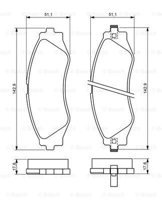 Тормозные колодки дисковые MINTEX арт. BO 0986494173