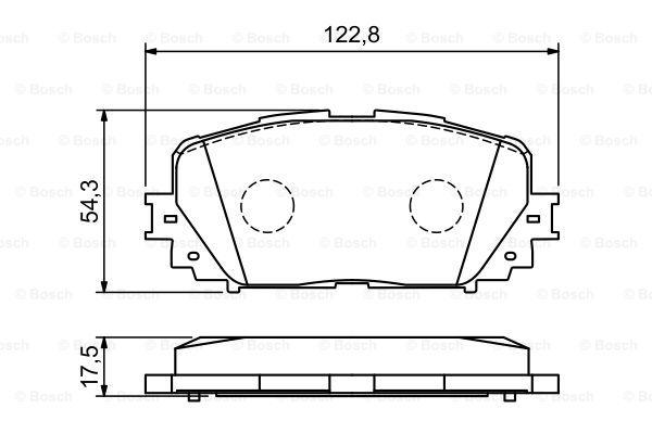 Гальмівні колодки, дискові MINTEX арт. 0986494196