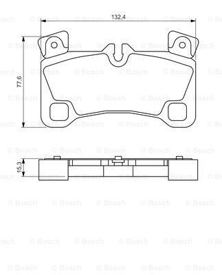 Тормозные колодки задние дисковые MINTEX арт. 0986494205