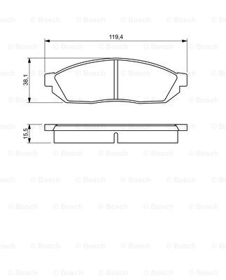Тормозные колодки дисковые MINTEX арт. 0 986 494 208