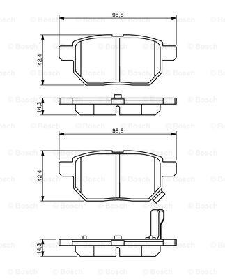 Гальмівні колодки, дискові MINTEX арт. 0986494255