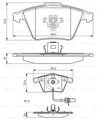 Гальмівні колодки, дискові MINTEX арт. 0986494271