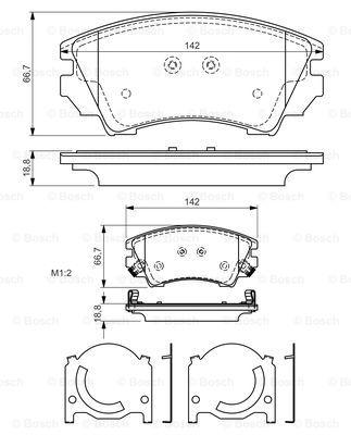 Тормозные колодки передние дисковые MINTEX арт. BO 0986494275