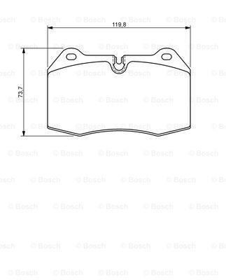Тормозные колодки передние дисковые MINTEX арт. 0986494282