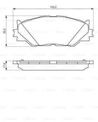 Тормозные колодки дисковые MINTEX арт. 0986494316