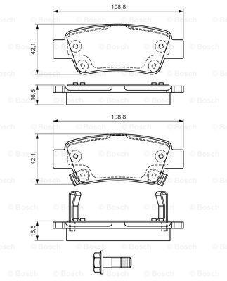 Гальмівні колодки, дискові MINTEX арт. BO 0986494329
