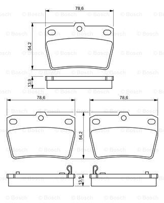 Тормозные колодки задние дисковые MINTEX арт. BO 0986494350