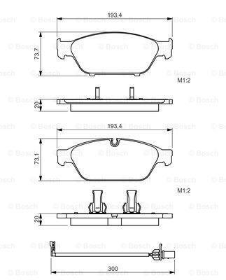 Тормозные колодки дисковые MINTEX арт. 0 986 494 447