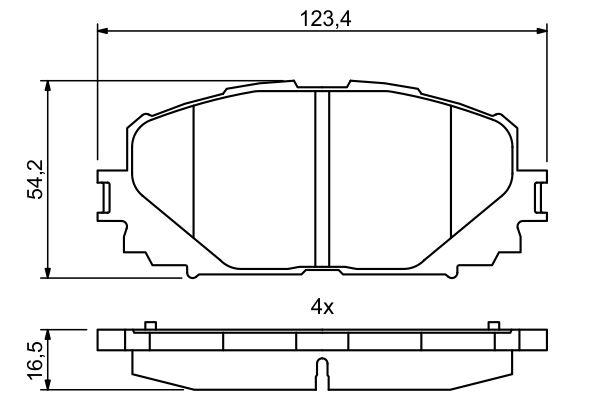 Тормозные колодки дисковые MINTEX арт. 0 986 494 770