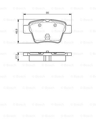 Тормозные колодки дисковые MINTEX арт. BO 0986495092