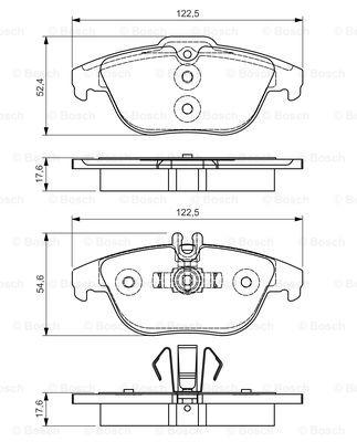 Тормозные колодки дисковые MINTEX арт. BO 0986495105