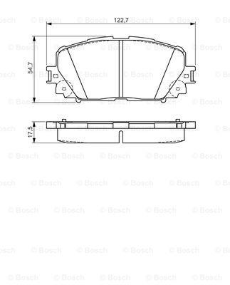 Тормозные колодки дисковые MINTEX арт. 0 986 495 109