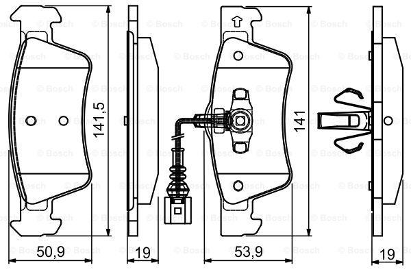 Тормозные колодки дисковые MINTEX арт. BO 0986495115