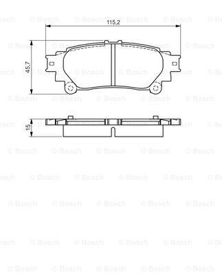 Тормозные колодки дисковые MINTEX арт. BO 0986495174