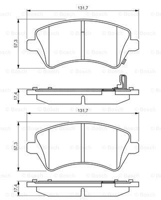 Тормозные колодки дисковые MINTEX арт. 0 986 495 243