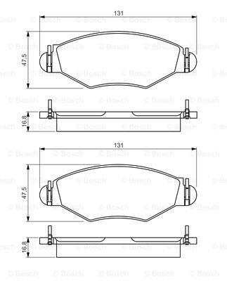 Тормозные колодки дисковые MINTEX арт. 0 986 495 244