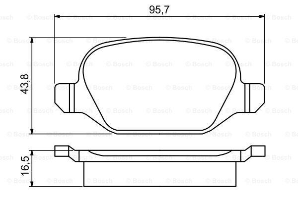 Тормозные колодки дисковые MINTEX арт. 0 986 495 291