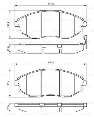 Тормозные колодки передние дисковые MINTEX арт. BO 0986495353