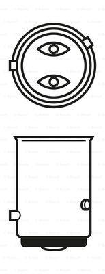 Лампа накаливания, фонарь сигнала тормоза/задний габаритный PHILIPS арт. BO 1987302215