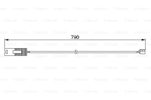 Датчик износа тормозных колодок MINTEX арт. BO 1987474926