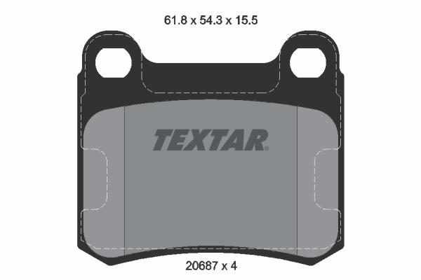 Тормозные колодки дисковые MINTEX арт. 2068701