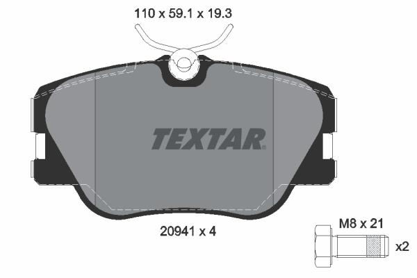 Тормозные колодки дисковые MINTEX арт. 2094102