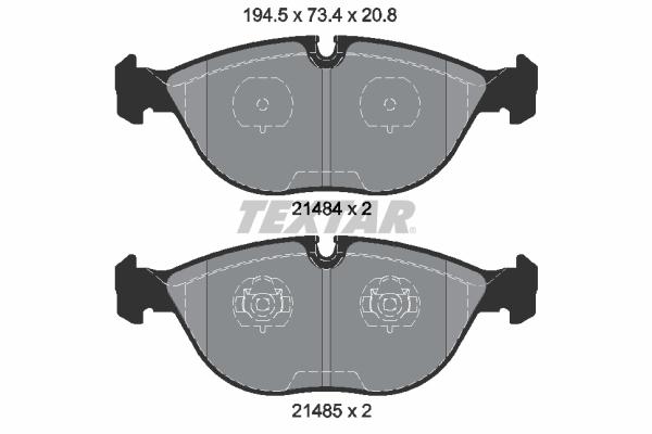 Тормозные колодки дисковые MINTEX арт. 2148401