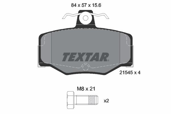 Тормозные колодки дисковые MINTEX арт. 2154501