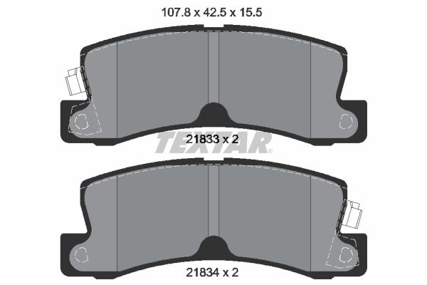Тормозные колодки дисковые MINTEX арт. 2183301