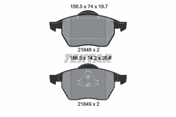 Тормозные колодки дисковые MINTEX арт. 2184802