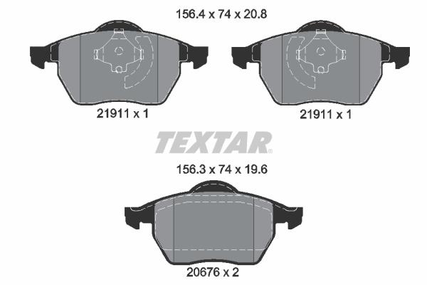 Тормозные колодки дисковые MINTEX арт. 2191102