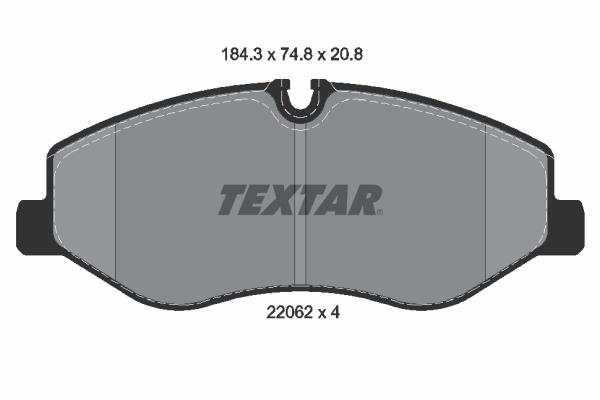 Тормозные колодки дисковые MINTEX арт. 2206201