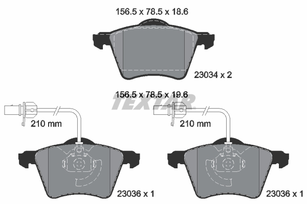 Тормозные колодки дисковые MINTEX арт. 2303401