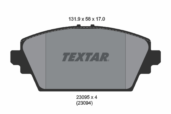 Тормозные колодки дисковые MINTEX арт. 2309501
