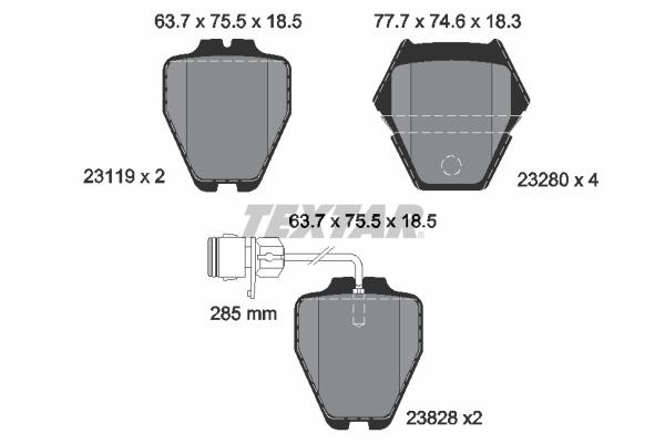 Тормозные колодки дисковые MINTEX арт. 2311901