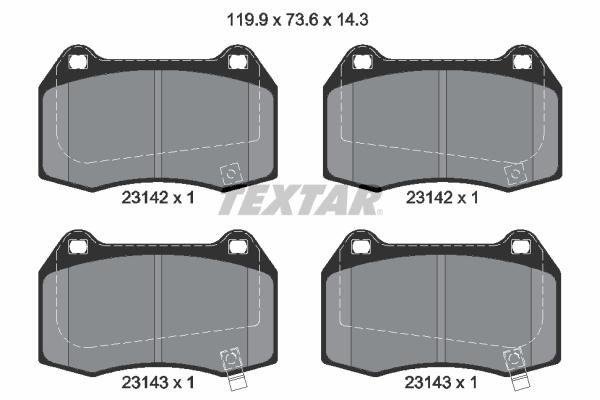 Тормозные колодки дисковые MINTEX арт. 2314201